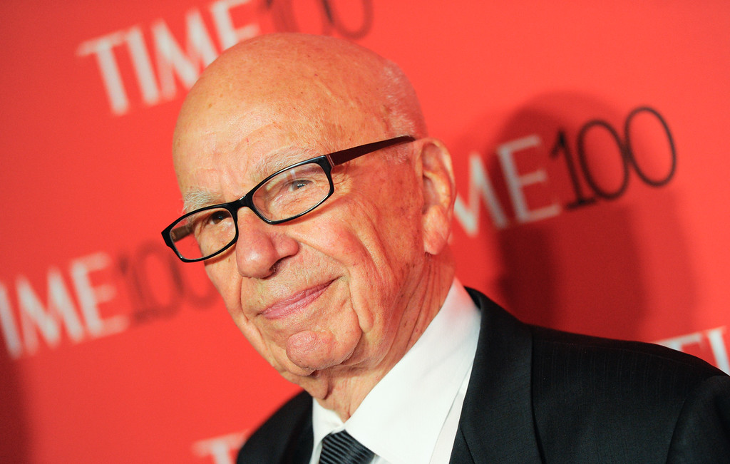 . Rupert Murdoch attends the TIME 100 Gala, celebrating the 100 most influential people in the world, at the Frederick P. Rose Hall, Time Warner Center on Tuesday, April 21, 2015, in New York. (Photo by Evan Agostini/Invision/AP)