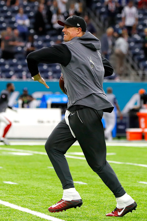 . HOUSTON, TX - FEBRUARY 05:  Matt Ryan #2 of the Atlanta Falcons warms up before Super Bowl 51 against the New England Patriots at NRG Stadium on February 5, 2017 in Houston, Texas.  (Photo by Kevin C. Cox/Getty Images)