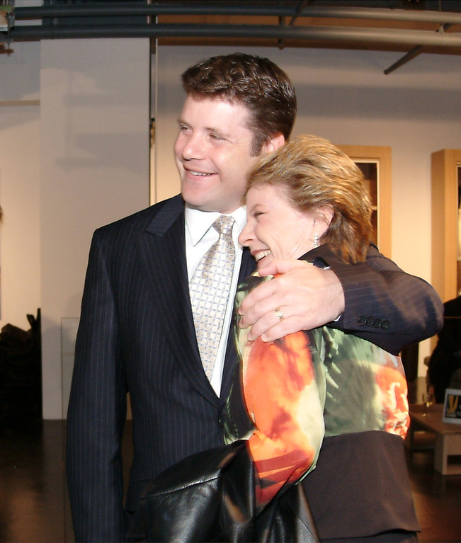 . Actor Sean Astin hugs his mother, Oscar-winning actress Patty Duke, at the Creative Coalition\'s 2004 Capitol Hill Spotlight Award Tuesday, March 30, 2004 in Washington. Duke presented her son with the award that pays tribute to entertainemnt and policy leaders who have given back to the community. (AP Photo, Lauren Burke)