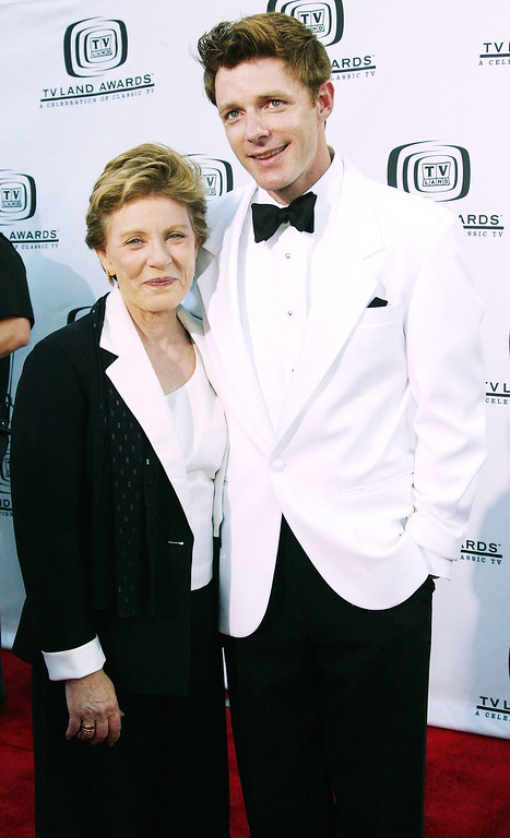 . HOLLYWOOD, CA - MARCH 7:  Actress Patty Duke (L) and her son Mackenzie Astin (R) attend the 2nd Annual TV Land Awards held at The Hollywood Palladium, March 7, 2004 in Hollywood, California.  (Photo by Frederick M. Brown/Getty Images)