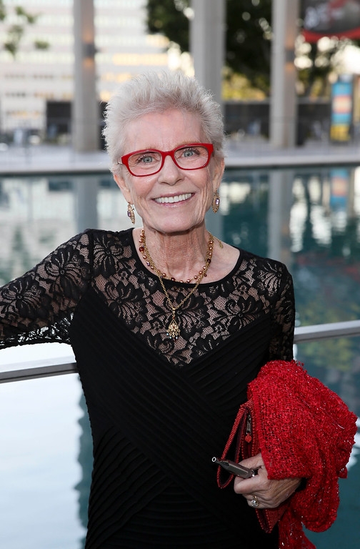 ". Actress Patty Duke arrives for the opening night performance of ""Buyer & Cellar\"" at the Center Theatre Group/Mark Taper Forum on July 13, 2014, in Los Angeles, Calif. (Photo by Ryan Miller/Invision/AP)"