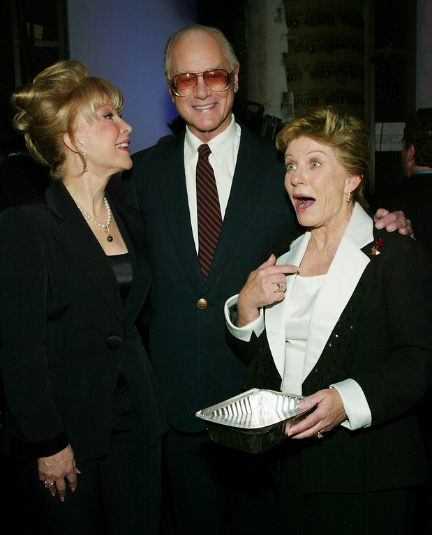 . HOLLYWOOD, CA - MARCH 7:  Actors Barbara Eden (L), Larry Hagman and Patty Duke attend the 2nd Annual TV Land Awards held at The Hollywood Palladium, March 7, 2004 in Hollywood, California.  (Photo by Frank Micelotta/Getty Images)