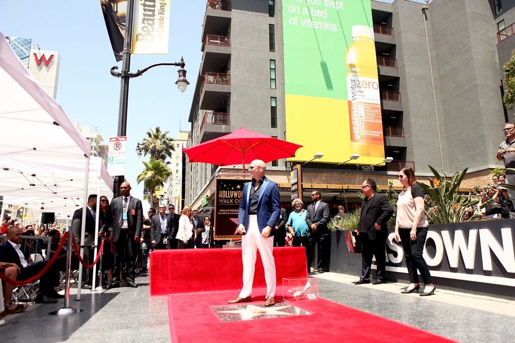 . HOLLYWOOD, CA - JULY 15:  Pitbull is honored with a Star on The Hollywood Walk of Fame on July 15, 2016 in Hollywood, California.  (Photo by Matt Winkelmeyer/Getty Images)