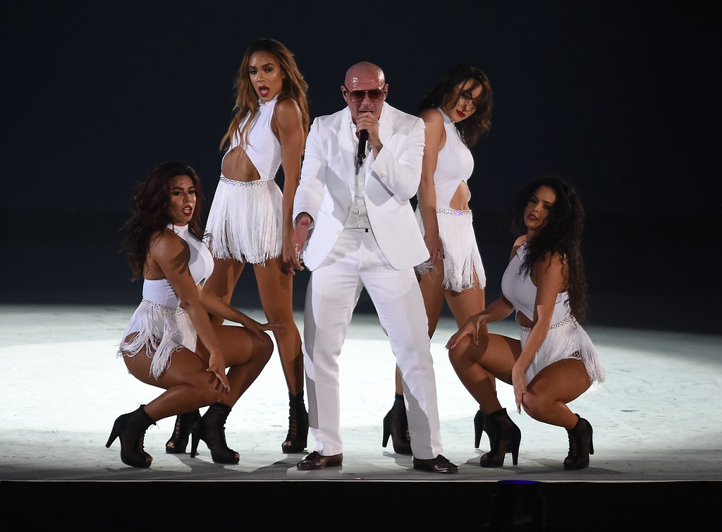 . Pitbull performs during the closing ceremony  for the 2015 Pan American Games at Rogers Centre in Toronto, Canada July 26, 2015.  (TIMOTHY A. CLARY/AFP/Getty Images)