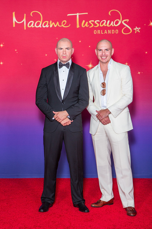 . ORLANDO, FL - MAY 29:  In this handout photo provided by Madame Tussauds Orlando, rapper Pitbull attends the unveiling of his wax likeness at Madame Tussauds May 29, 2015 in Orlando, Florida.  (Photo by Madame Tussauds Orlando via Getty Images)