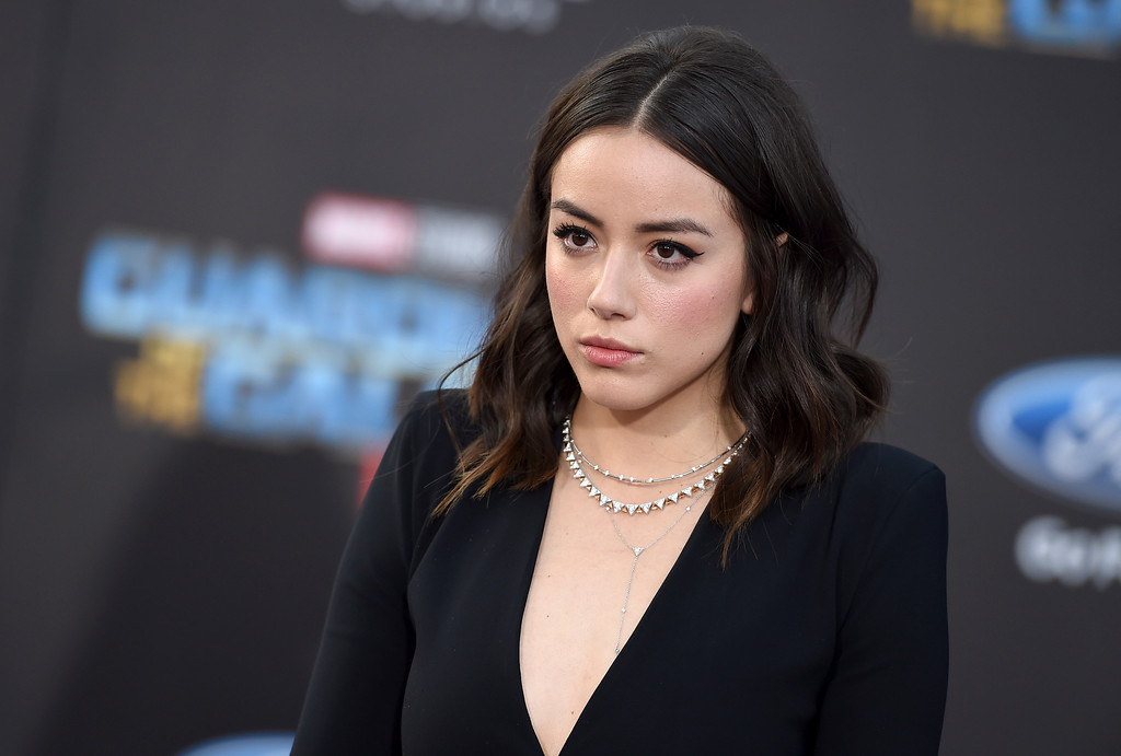 ". Chloe Bennet arrives at the world premiere of ""Guardians of the Galaxy Vol. 2\"" at the Dolby Theatre on Wednesday, April 19, 2017, in Los Angeles. (Photo by Jordan Strauss/Invision/AP)"