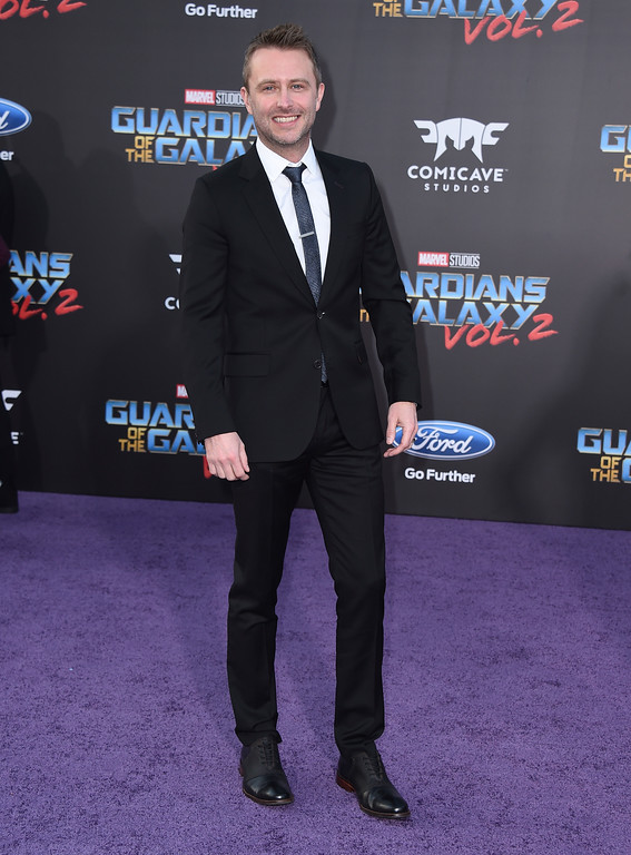 ". Chris Hardwick arrives at the world premiere of ""Guardians of the Galaxy Vol. 2\"" at the Dolby Theatre on Wednesday, April 19, 2017, in Los Angeles. (Photo by Jordan Strauss/Invision/AP)"