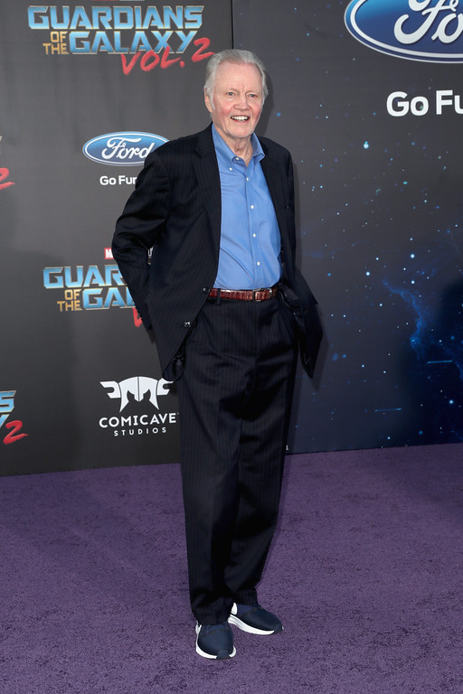 ". HOLLYWOOD, CA - APRIL 19:  Actor Jon Voight at the premiere of Disney and Marvel\'s ""Guardians Of The Galaxy Vol. 2\"" at Dolby Theatre on April 19, 2017 in Hollywood, California.  (Photo by Frederick M. Brown/Getty Images)"