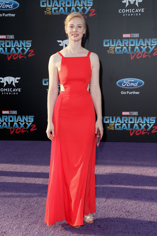 ". HOLLYWOOD, CA - APRIL 19:  Actor Deborah Ann Woll at the premiere of Disney and Marvel\'s ""Guardians Of The Galaxy Vol. 2\"" at Dolby Theatre on April 19, 2017 in Hollywood, California.  (Photo by Frederick M. Brown/Getty Images)"