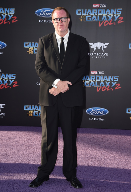 ". Steve Agee arrives at the world premiere of ""Guardians of the Galaxy Vol. 2\"" at the Dolby Theatre on Wednesday, April 19, 2017, in Los Angeles. (Photo by Jordan Strauss/Invision/AP)"