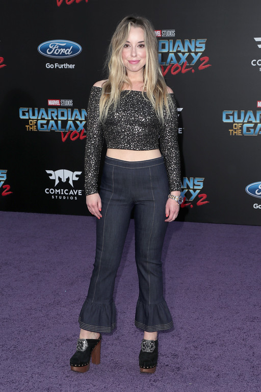 ". HOLLYWOOD, CA - APRIL 19:  Actor Skyler Shaye at the premiere of Disney and Marvel\'s ""Guardians Of The Galaxy Vol. 2\"" at Dolby Theatre on April 19, 2017 in Hollywood, California.  (Photo by Frederick M. Brown/Getty Images)"