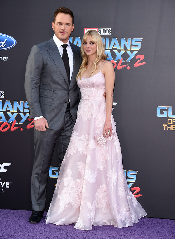". Chris Pratt, left, and Anna Faris arrive at the world premiere of ""Guardians of the Galaxy Vol. 2\"" at the Dolby Theatre on Wednesday, April 19, 2017, in Los Angeles. (Photo by Jordan Strauss/Invision/AP)"