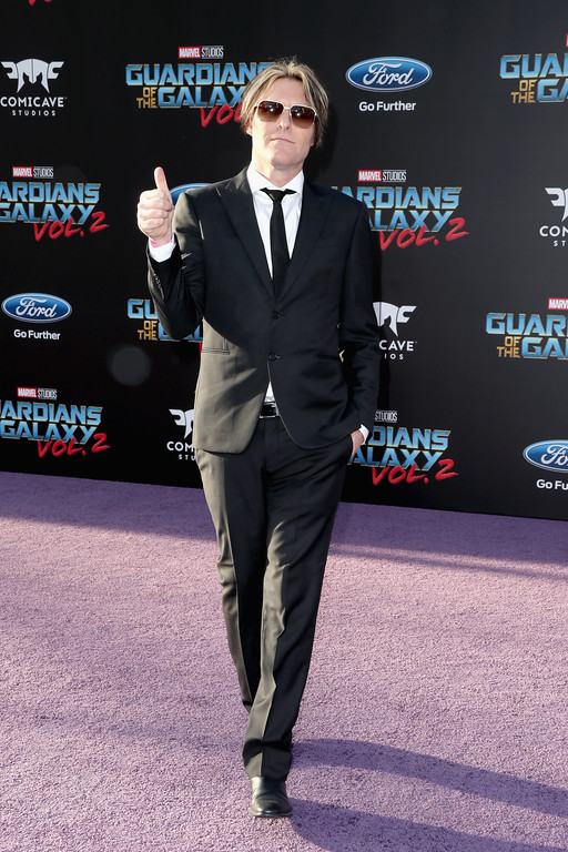 ". HOLLYWOOD, CA - APRIL 19:  Composer Tyler Bates at the premiere of Disney and Marvel\'s ""Guardians Of The Galaxy Vol. 2\"" at Dolby Theatre on April 19, 2017 in Hollywood, California.  (Photo by Frederick M. Brown/Getty Images)"