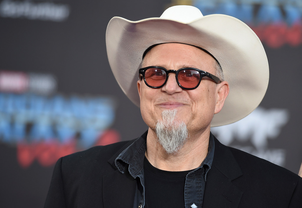 ". Bobcat Goldthwait arrives at the world premiere of ""Guardians of the Galaxy Vol. 2\"" at the Dolby Theatre on Wednesday, April 19, 2017, in Los Angeles. (Photo by Jordan Strauss/Invision/AP)"