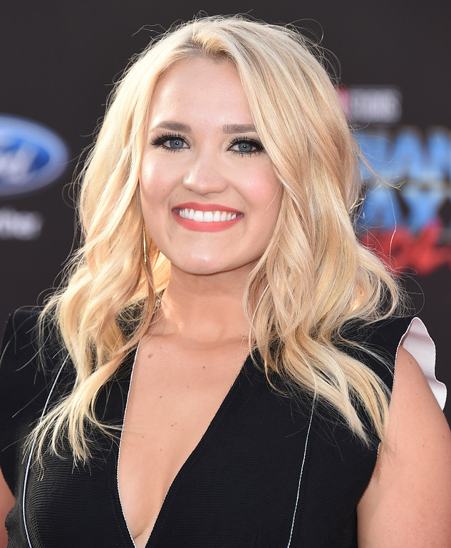". Emily Osment arrives at the world premiere of ""Guardians of the Galaxy Vol. 2\"" at the Dolby Theatre on Wednesday, April 19, 2017, in Los Angeles. (Photo by Jordan Strauss/Invision/AP)"