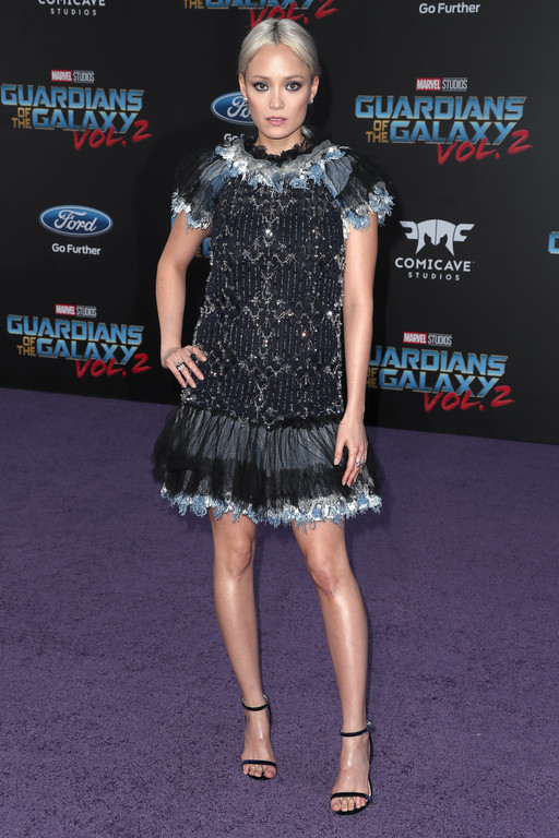 ". HOLLYWOOD, CA - APRIL 19:  Actor Pom Klementieff at the premiere of Disney and Marvel\'s ""Guardians Of The Galaxy Vol. 2\"" at Dolby Theatre on April 19, 2017 in Hollywood, California.  (Photo by Frederick M. Brown/Getty Images)"