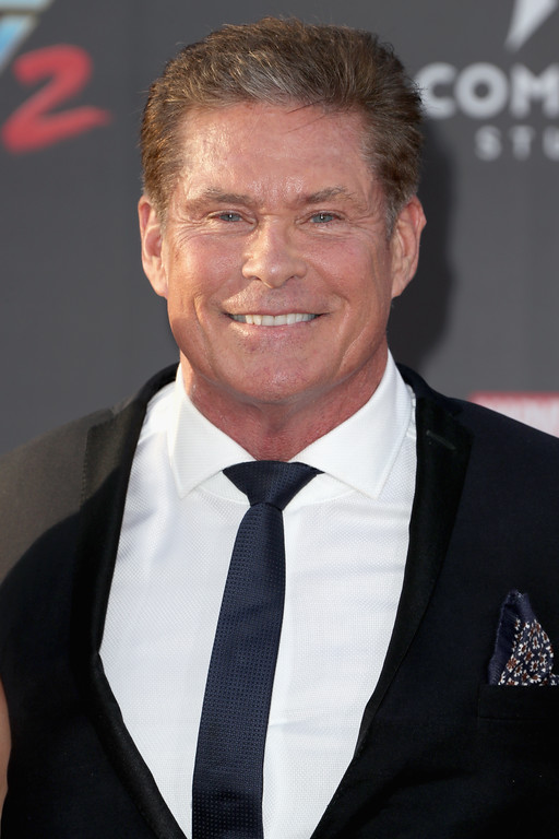 ". HOLLYWOOD, CA - APRIL 19:  Actor David Hasselhoff at the premiere of Disney and Marvel\'s ""Guardians Of The Galaxy Vol. 2\"" at Dolby Theatre on April 19, 2017 in Hollywood, California.  (Photo by Frederick M. Brown/Getty Images)"