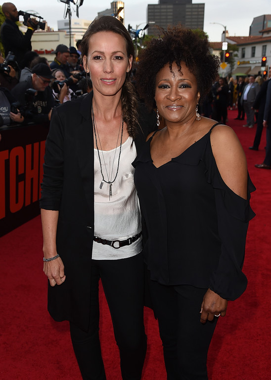 ". WESTWOOD, CA - MAY 10:  Comedian Wanda Sykes (R) and Alex attend the premiere of 20th Century Fox\'s ""Snatched\"" at Regency Village Theatre on May 10, 2017 in Westwood, California.  (Photo by Kevin Winter/Getty Images)"