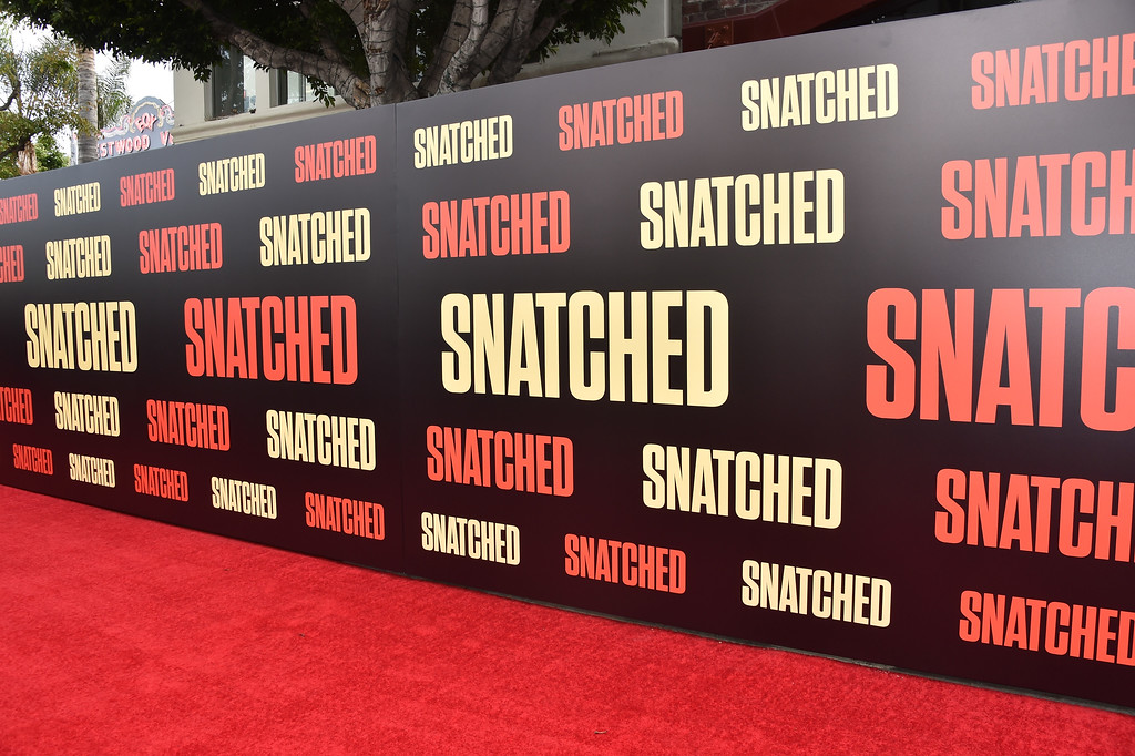 ". WESTWOOD, CA - MAY 10:  A view of the carpet is seen during the premiere of 20th Century Fox\'s ""Snatched\"" at Regency Village Theatre on May 10, 2017 in Westwood, California.  (Photo by Alberto E. Rodriguez/Getty Images)"