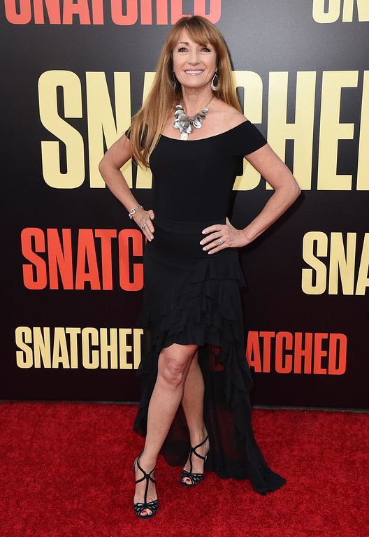 ". Jane Seymour arrives at the Los Angeles premiere of ""Snatched\"" at the Regency Village Theatre on Wednesday, May 10, 2017. (Photo by Jordan Strauss/Invision/AP)"