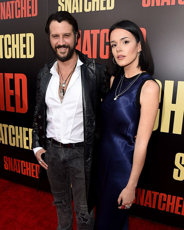 ". LOS ANGELES, CA - MAY 10:  Actor Stefan Kapicic (L) and Ivana Horvat arrive at the premiere of 20th Century Fox\'s ""Snatched\"" at the Village Theatre on May 10, 2017 in Los Angeles, California.  (Photo by Kevin Winter/Getty Images)"