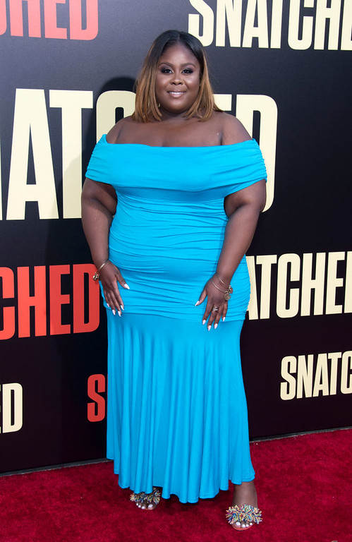". Actress Raven Goodwin attends the world premiere of ""Snatched\"" at the Regency Village Theater, on May 10, 2017, in Westwood, California. (VALERIE MACON/AFP/Getty Images)"