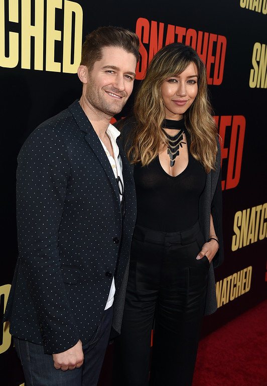 ". WESTWOOD, CA - MAY 10:  Actor Matthew Morrison (L) and Renee Puente attend the premiere of 20th Century Fox\'s ""Snatched\"" at Regency Village Theatre on May 10, 2017 in Westwood, California.  (Photo by Kevin Winter/Getty Images)"