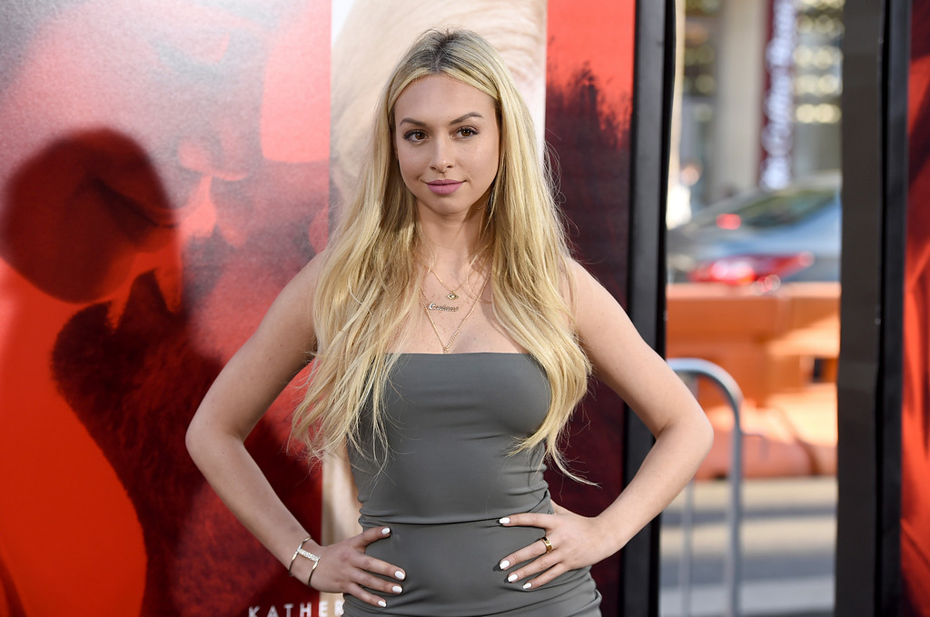 ". Corinne Olympios arrives at the Los Angeles premiere of ""Unforgettable\"" at the TCL Chinese Theatre on Tuesday, April 18, 2017. (Photo by Jordan Strauss/Invision/AP)"