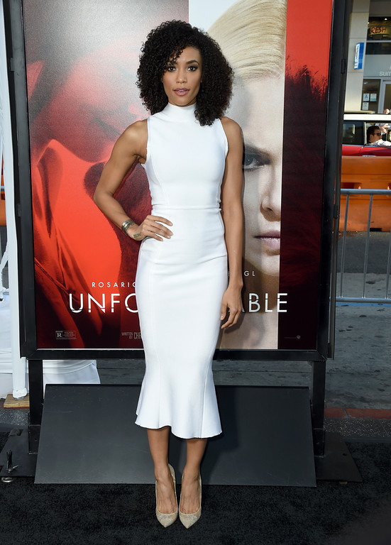 ". Annie Ilonzeh arrives at the Los Angeles premiere of ""Unforgettable\"" at the TCL Chinese Theatre on Tuesday, April 18, 2017. (Photo by Jordan Strauss/Invision/AP)"