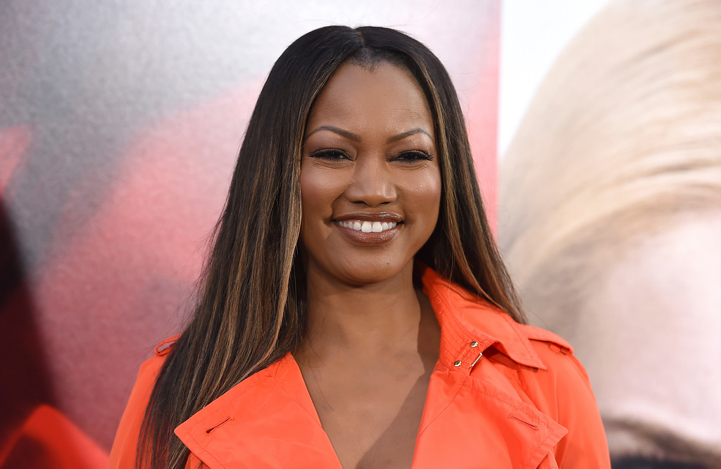 """. Garcelle Beauvais arrives at the Los Angeles premiere of \""""Unforgettable\"""" at the TCL Chinese Theatre on Tuesday, April 18, 2017. (Photo by Jordan Strauss/Invision/AP)"""