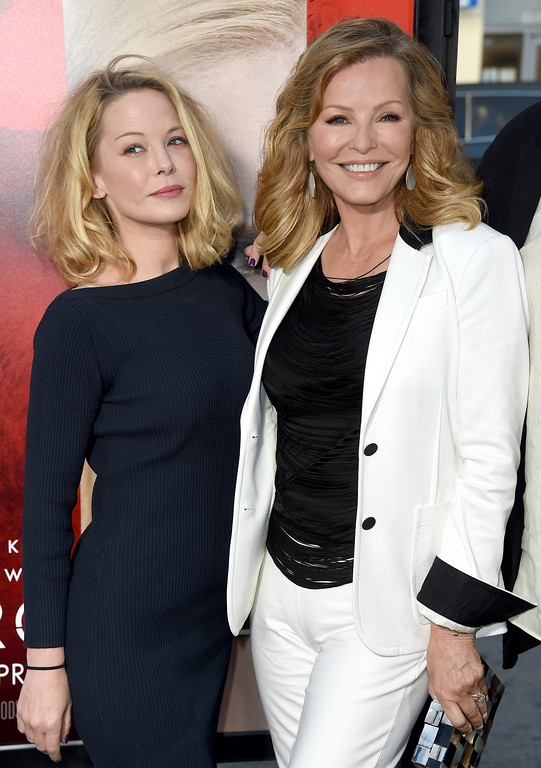". Jordan Ladd, left, and Cheryl Ladd arrive at the Los Angeles premiere of ""Unforgettable\"" at the TCL Chinese Theatre on Tuesday, April 18, 2017. (Photo by Jordan Strauss/Invision/AP)"