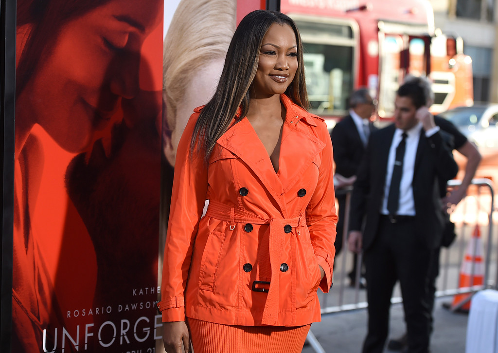". Garcelle Beauvais arrives at the Los Angeles premiere of ""Unforgettable\"" at the TCL Chinese Theatre on Tuesday, April 18, 2017. (Photo by Jordan Strauss/Invision/AP)"