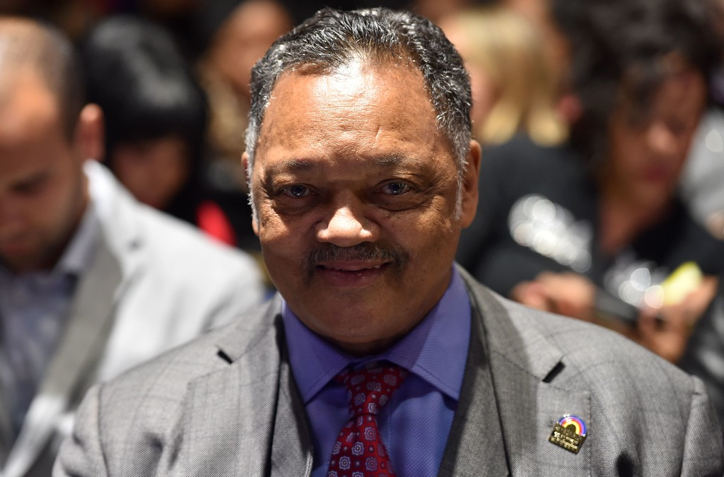 . The Reverend Jesse Jackson, US civil rights activist, Baptist minister, and politician waits for US President Barack Obama to give his farewell address in Chicago, Illinois on January 10, 2017. Barack Obama closes the book on his presidency, with a farewell speech in Chicago that will try to lift supporters shaken by Donald Trump\'s shock election. (NICHOLAS KAMM/AFP/Getty Images)