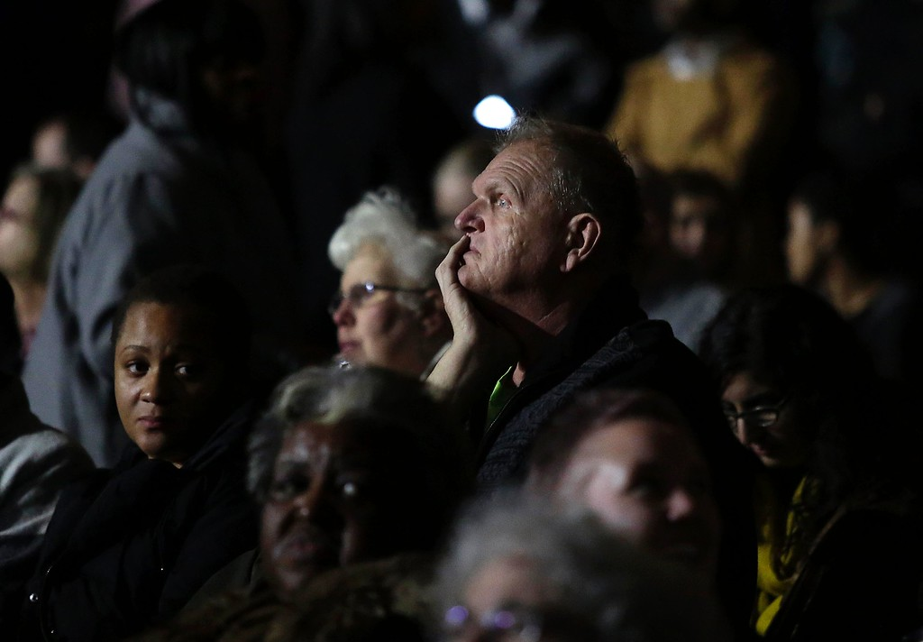 . Supporters attend President Barack Obama\'s farewell address in Chicago, Illinois on January 10, 2017. Barack Obama closes the book on his presidency, with a farewell speech in Chicago that will try to lift supporters shaken by Donald Trump\'s shock election. (JOSHUA LOTT/AFP/Getty Images)