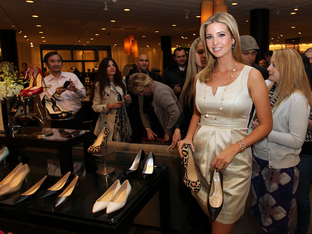 . Ivanka Trump attends the Launch of Her Spring 2011 Lifestyle Collection of Footwear at the Topanga Nordstrom on February 17, 2011 in Canoga Park, California. Nordstrom shares sunk after President Trump tweeted that the department store chain had treated his daughter �so unfairly� when it announced last week that it would stop selling Ivanka Trump�s clothing and accessory line.   (Photo by Frederick M. Brown/Getty Images)