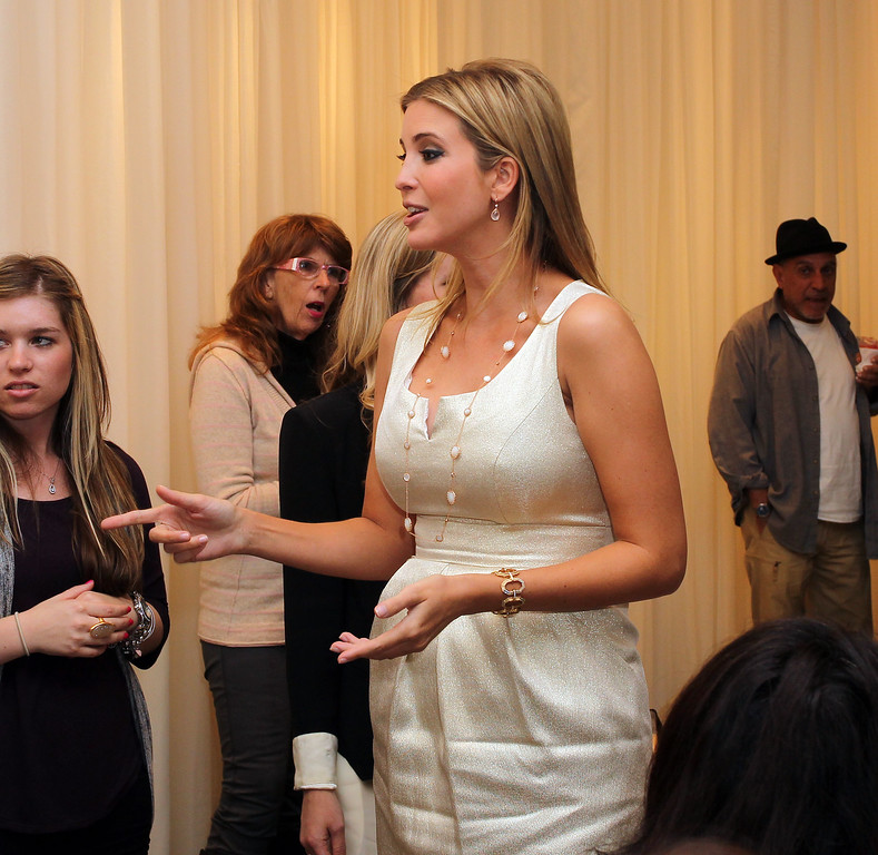 . Ivanka Trump attends the Launch of Her Spring 2011 Lifestyle Collection of Footwear at the Topanga Nordstrom on February 17, 2011 in Canoga Park, California. Nordstrom said Thursday, Feb. 2, 2017,  it will stop selling Ivanka Trump clothing and accessories. The Seattle-based department store chain said the decision was based on the sales performance of the first daughter\'s brand. (Photo by Frederick M. Brown/Getty Images)