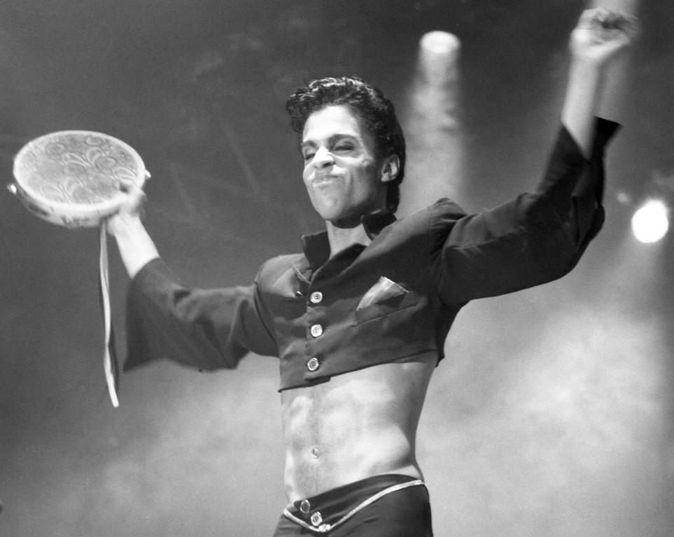 . American pop star Prince performing circa 1986. (AP Photo)