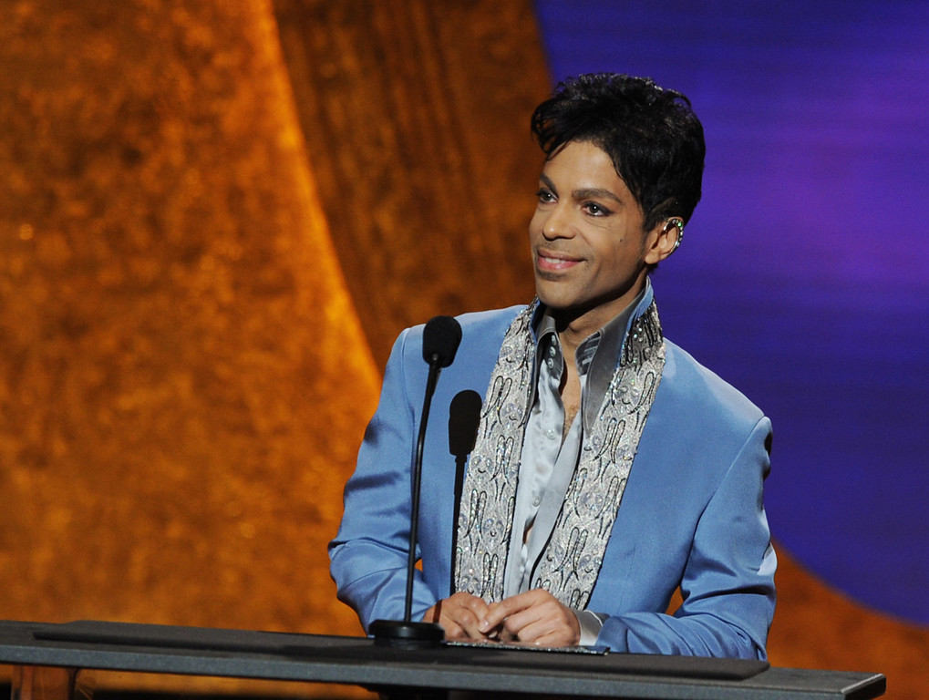 . LOS ANGELES, CA - MARCH 04:  Presenter Prince onstage at the 42nd NAACP Image Awards held at The Shrine Auditorium on March 4, 2011 in Los Angeles, California.  (Photo by Kevin Winter/Getty Images  for NAACP Image Awards)