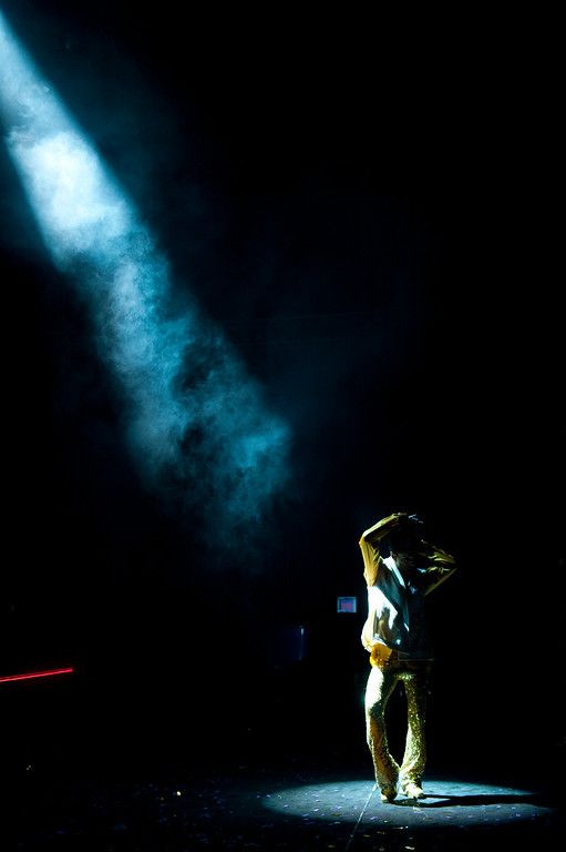 """. Prince performs during his \""""Welcome 2 Europe\"""" tour at the Umbria Jazz Festival Grounds on Friday, July 15, 2011 in Perugia, Italy.  (Photo by Jordan Strauss/Invision/AP)"""