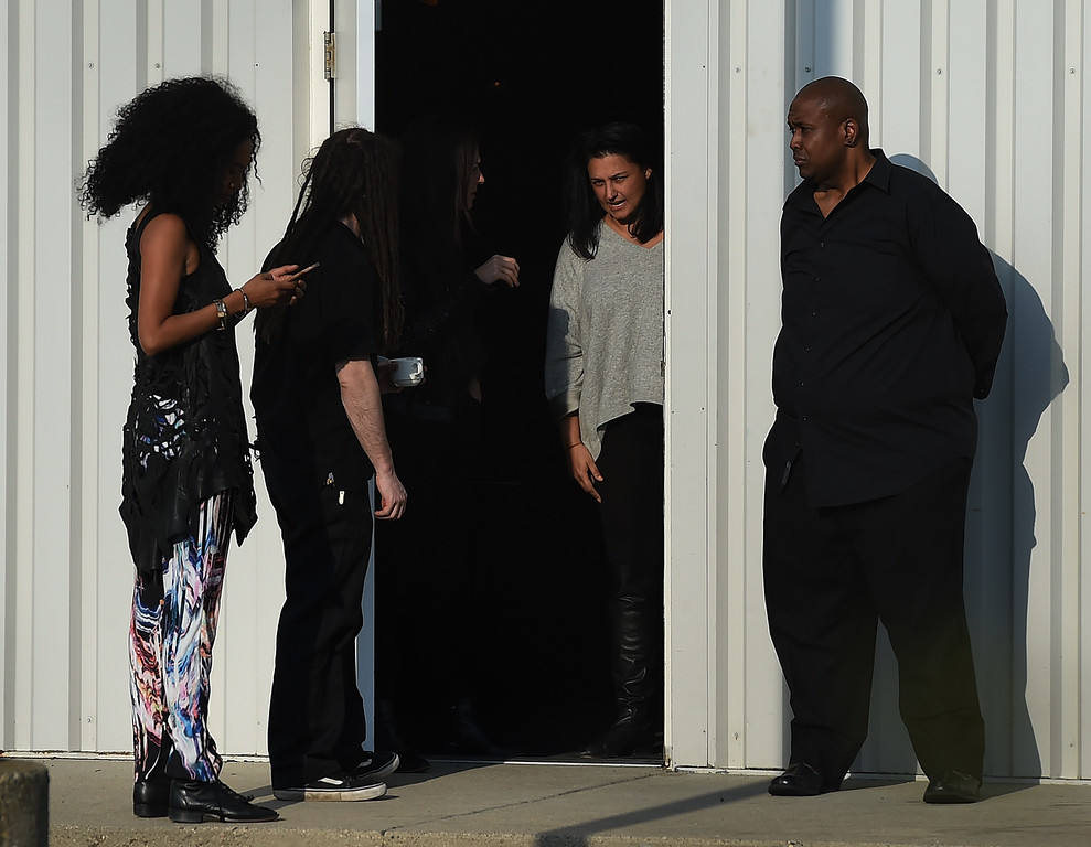 . Guests leave following a memorial service on April 23, 2016 inside the Paisley Park compound of music legend Prince, who died suddenly at the age of 57, in Minneapolis, Minnesota.  Family, friends and musicians attended the service after the remains of Prince were cremated before being placed in a private location. (MARK RALSTON/AFP/Getty Images)