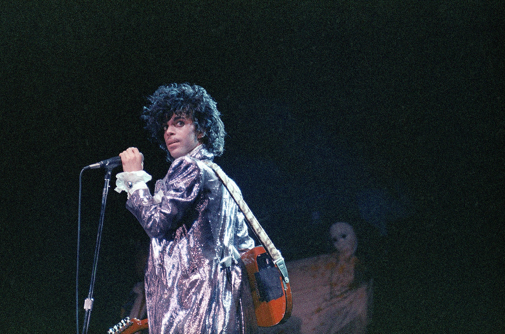 . Singer Prince is shown in concert in 1985,  (AP Photo)