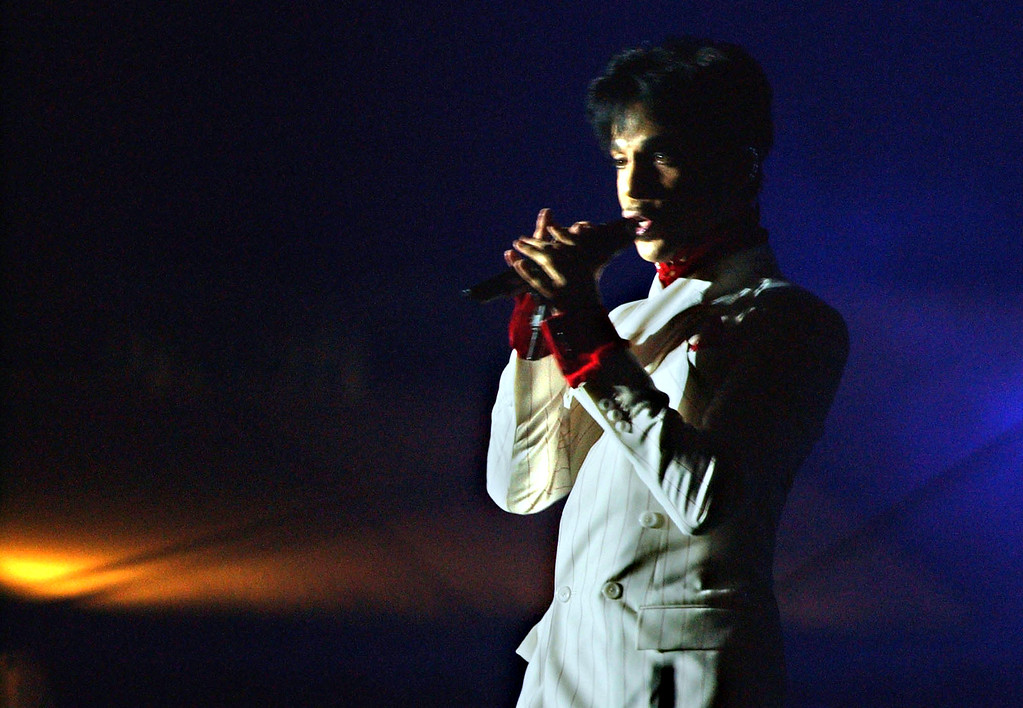 . File - American singer Prince performs in Hong Kong Friday, Oct. 17, 2003. (AP photo/Anat Givon)