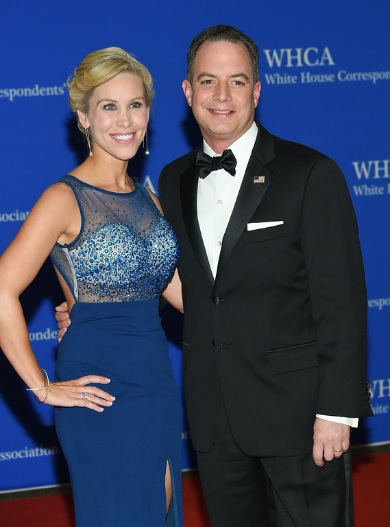 . Reince Priebus and wife Sally Priebus attend the White House Correspondents\' Association Dinner at the Washington Hilton Hotel, Saturday, April 30, 2016, in Washington. (Photo by Evan Agostini/Invision/AP)