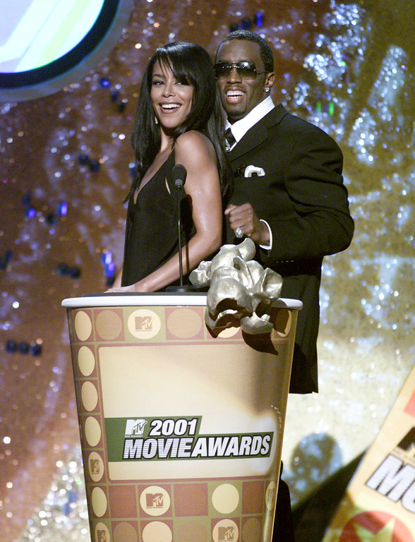 . Aaliyah and Sean Combs present at the 2001 MTV Movie Awards at the Shrine Auditorium in Los Angeles Saturday, June 2, 2001.(Photo by Kevin Winter/Getty Images)