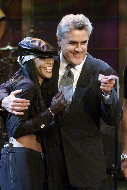. Aaliyah at \'The Tonight Show with Jay Leno\' at the NBC Studios in Burbank, Ca. 7/25/01. Photo by Kevin Winter/Getty Images.