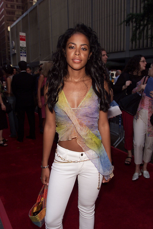 . Singer Aaliyah arrives for the world premiere of the 20th Century Fox film \'Planet of the Apes\' at the Ziegfeld Theater in New York City, 7/23/01. Photo by Frank Micelotta/ImageDirect.