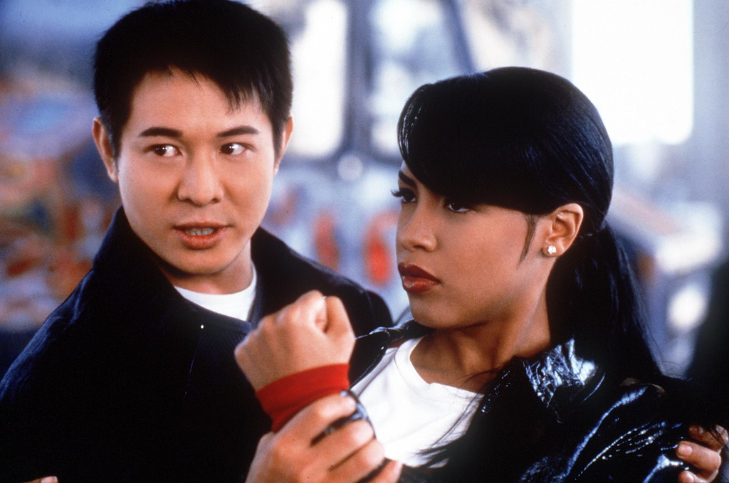 . Jet Li (as Han Sing) and Aaliyah (as Trish O\'\'Day) star in \'Romeo Must Die.\' (Photo credit: Kharen Hill 2000 Warner Bros./Getty Images)