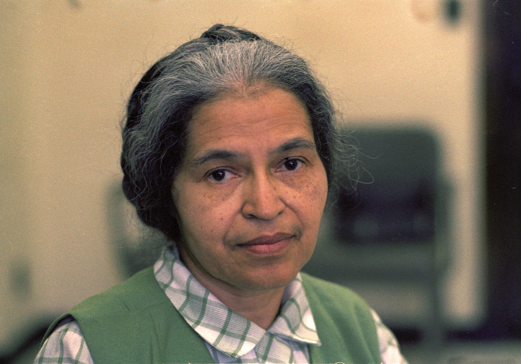 . Rosa Parks  is seen in Detroit in May 1971. (AP Photo)