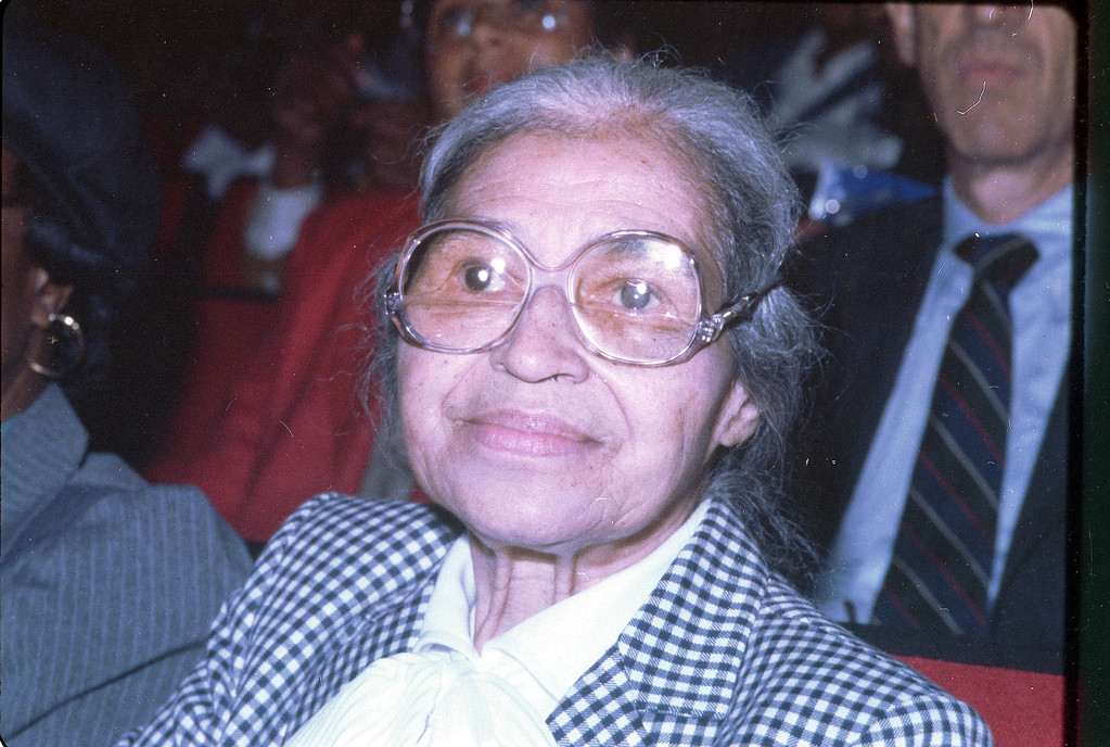 . This is a 1989 photo of African-American civil rights activist Rosa Parks.  (AP Photo)
