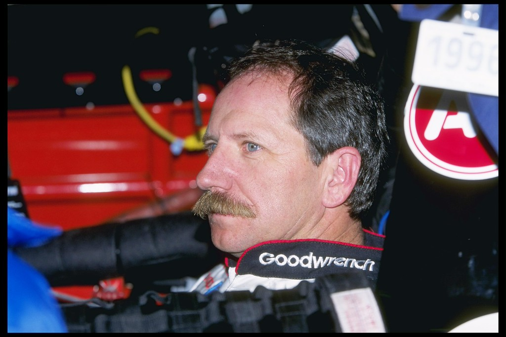 . 3 Apr 1996 file photo:  Dale Earnhardt relaxes at the Goodyear Tire Test in Sukaza, Japan. (Allsport )